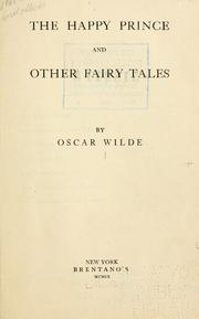 Cover of: The Happy Prince and other tales by Oscar Wilde