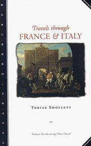 Cover of: Travels through France and Italy by Tobias Smollett