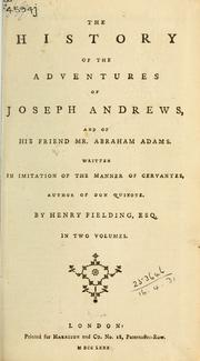 Cover of: Joseph Andrews | Henry Fielding