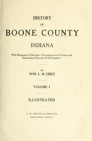 Cover of: History of Boone County, Indiana | L. M. Crist