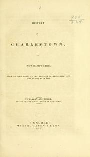 Cover of: History of Charlestown, in New-Hampshire | Jaazaniah Crosby
