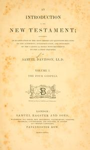 Cover of: An introduction to the New Testament | Samuel Davidson