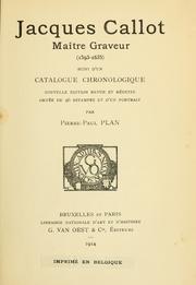 Jacques Callot, maître graveur (1593-1635) suivi d'un catalogue chronologique