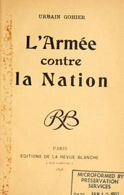Cover of: L' armée contre la nation | Gohier, Urbain Degoulet, called