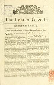 Cover of: The London gazette by Great Britain. Department of Economic Affairs.