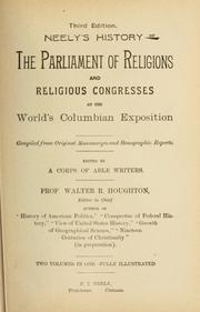 Cover of: The parliament of religions | Walter Raleigh Houghton