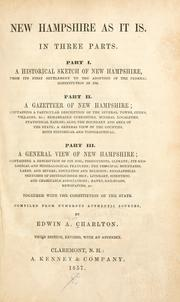 Cover of: New Hampshire as it is | Edwin A. Charlton