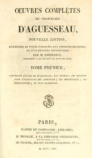 Cover of: Oeuvres complètes | Aguesseau, H. Fr. d'