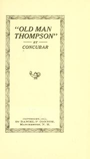 "Cover of: ""Old man Thompson,"" by Daniel P. Connor"