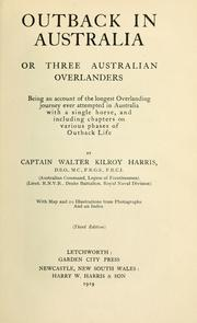 Cover of: Outback in Australia | Kilroy Harris