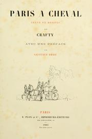 Cover of: Paris à cheval by Crafty