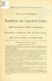 Cover of: Platforms of the Republican and Copperland parties | Republican congressional committee