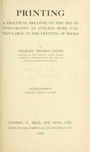 Cover of: Printing by Charles Thomas Jacobi