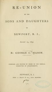 Re-union of the sons and daughters of Newport, R. I., August 23, 1859
