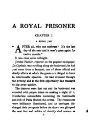 Cover of: A royal prisoner by Pierre Souvestre