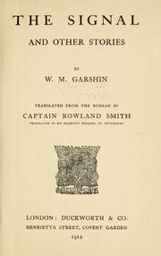 Cover of: The signal by V. M. Garshin
