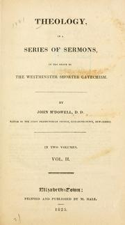 Cover of: Theology by McDowell, John