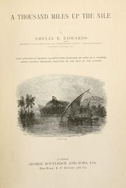 Cover of: A thousand miles up the Nile | Amelia Ann Blandford Edwards
