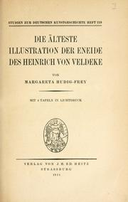 Cover of: Die älteste illustration der Eneide des Heinrich von Veldeke by Margareta Hudig-Frey