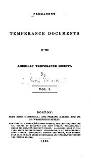 Cover of: Permanent temperance documents of the American Temperance Society by American Temperance Society