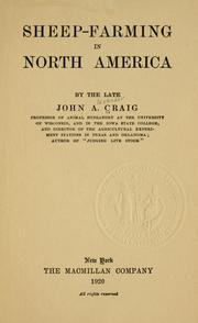 Cover of: Sheep-farming in North America by John Alexander Craig