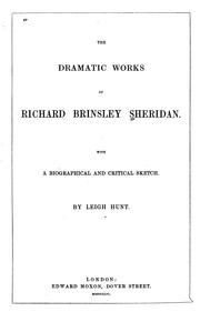 Cover of: Plays | Richard Brinsley Sheridan