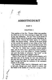 Cover of: Abbotscourt | John Ayscough