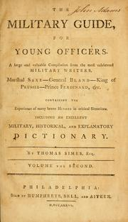 Cover of: The military guide for young officers | Thomas Simes