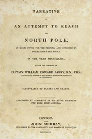 Cover of: Narrative of an attempt to reach the North pole | William Edward Parry