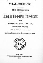 Cover of: Vital questions | Christian Conference (1888 Montreal, Quebec)