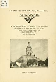 Cover of: A day in historic and beautiful Annapolis | Mynna Thruston