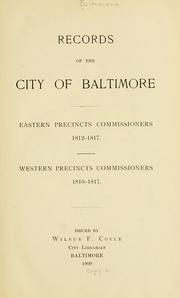 Cover of: Records of the city of Baltimore | Baltimore