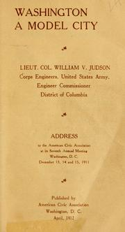 Cover of: Washington by William Voorhees Judson