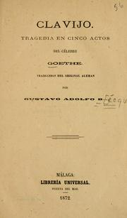 Cover of: Clavijo by Johann Wolfgang von Goethe