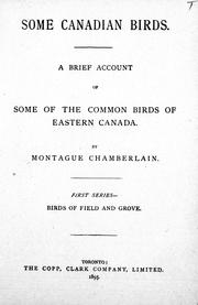 Cover of: Some Canadian birds | Montague Chamberlain