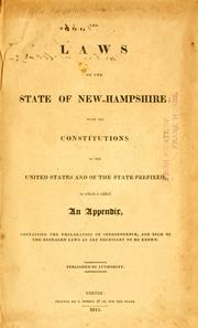 Cover of: The laws of the state of New-Hampshire by New Hampshire.