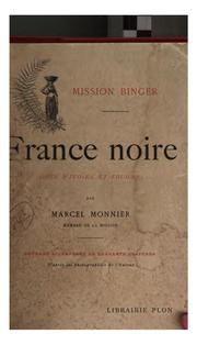 Cover of: Mission Binger | Marcel Monnier