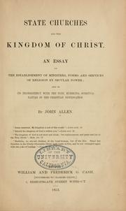 Cover of: State churches and the kingdom of Christ | John Allen