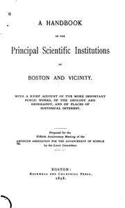 Cover of: A handbook of the principal scientific institutions of Boston and vicinity | American Association for the Advancement of Science.