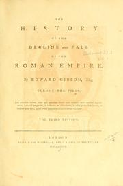 Cover of: History of the Decline and Fall of the Roman Empire | Edward Gibbon