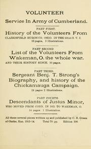 Cover of: Volunteer service in Army of Cumberland | Green, Charles Ransley