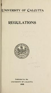 Cover of: Regulations | University of Calcutta.