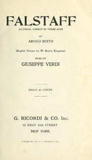 Cover of: Falstaff by Giuseppe Verdi