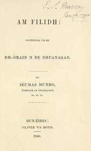 Cover of: Am filidh by James Munro