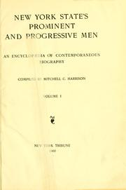 Cover of: New York State's prominent and progressive men | Mitchell Charles Harrison