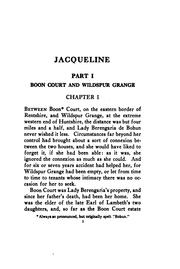 Cover of: Jacqueline | John Ayscough