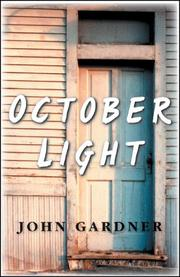 Cover of: October Light | John Gardner