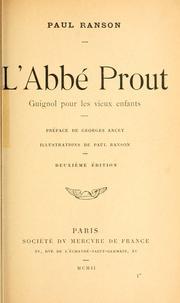L' abbé Prout, guignol pour les vieux enfants