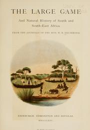 Cover of: The large game and natural history of South and South-East Africa | Drummond, William Henry