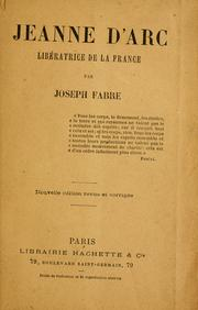 Cover of: Jeanne d'Arc by Joseph Fabre